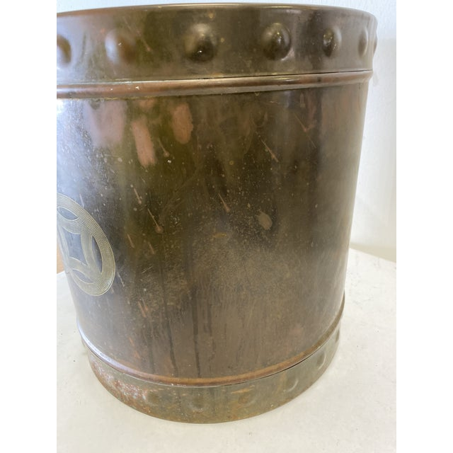 1960s Mid Century Brass Cashepot For Sale - Image 5 of 7
