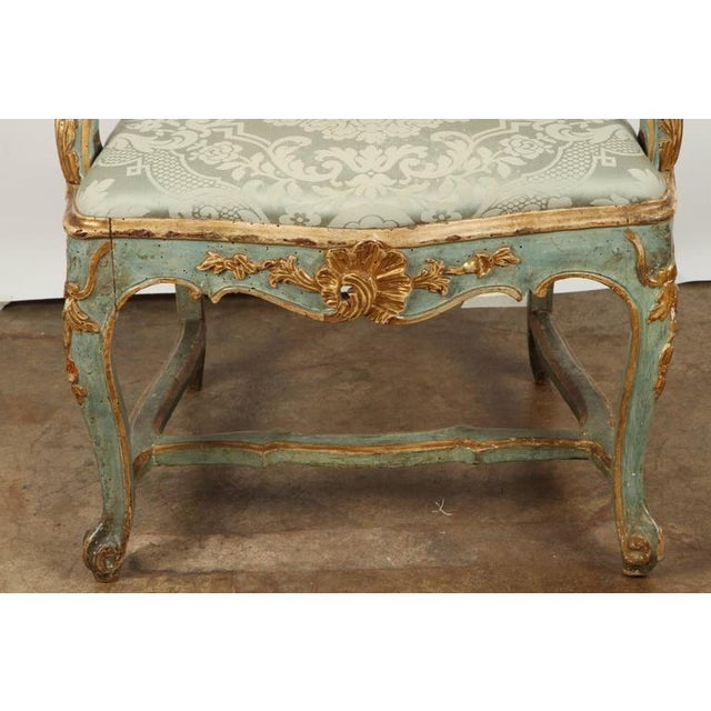 Mid 18th Century Fine Venetian Rococo Arm Chair For Sale - Image 5 of 9