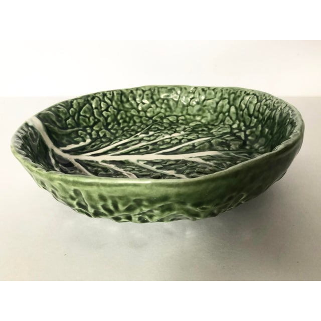 Vintage Faiancas Neto Cabbage Leaf Bowl For Sale In Tampa - Image 6 of 8