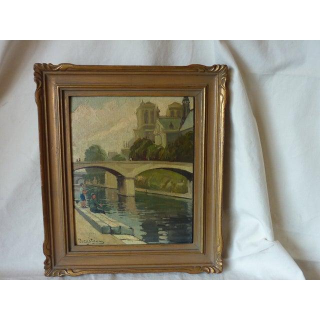 Scenes of Paris Oil Paintings - A Pair - Image 4 of 7