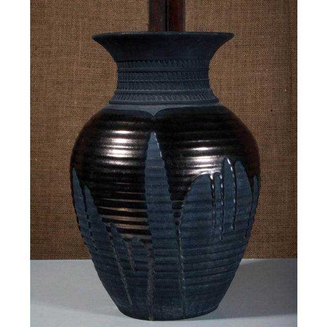 Large Sebastiano Maglio Haeger Black Pottery Vase - Image 2 of 7