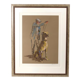 """1980s Leroy Newman """"Great Dane"""" Serigraph Print For Sale"""