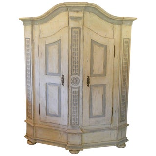 Late 18th Century Armoire in Painted Wood For Sale