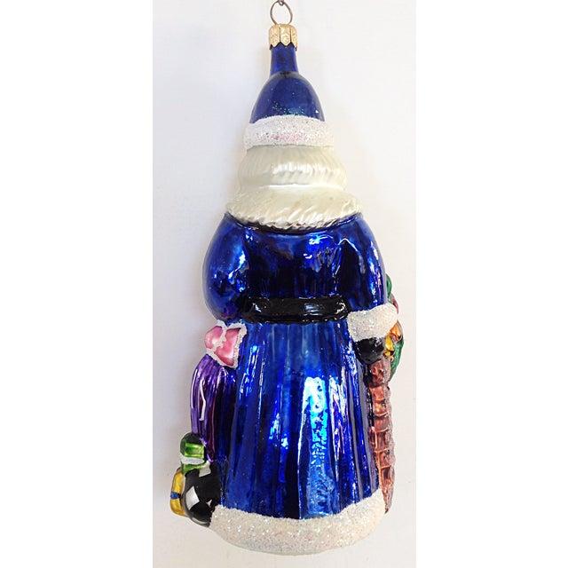 Traditional Christopher Radko Santa & Fruit Basket Christmas Ornament For Sale - Image 3 of 3