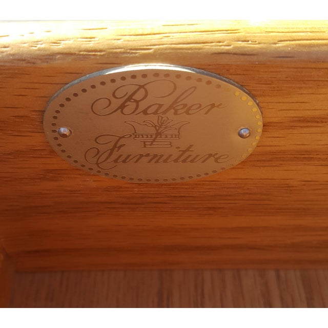 Baker Furniture Chippendale Faux Bamboo Desk For Sale - Image 11 of 12