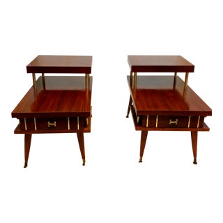 1960s Mid-Century Modern End Tables - a Pair For Sale