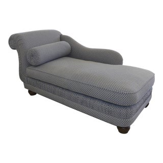 Century Furniture Traditional English Arm Chaise For Sale