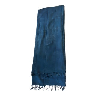 Plain Cotton Indigo Cloth - Mossi Tribe Burkina Faso For Sale
