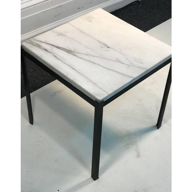 Florence Knoll 1970s Mid-Century Modern Marble Top Nesting Tables - Set of 3 For Sale - Image 4 of 6