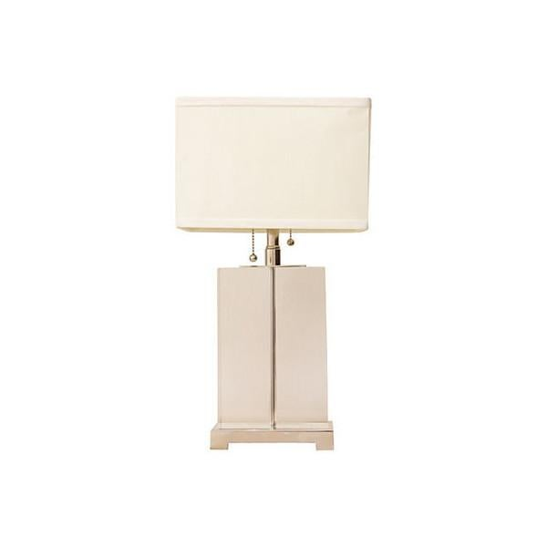 Pierre Cardin-Style Chrome & Lucite Table Lamp - Image 1 of 7