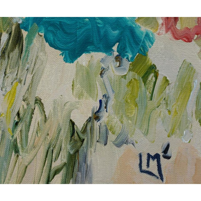 """2010s """"Picnic"""" Abstract Painting by Laurie MacMillan For Sale - Image 5 of 6"""