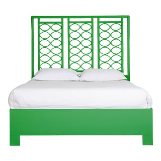 Infinity Bed Queen - Bright Green For Sale