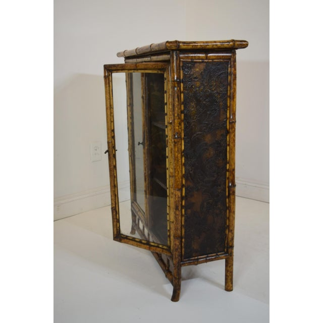 Late 19th Century 19th-Century Bamboo/Chinioserie Bookcase For Sale - Image 5 of 8