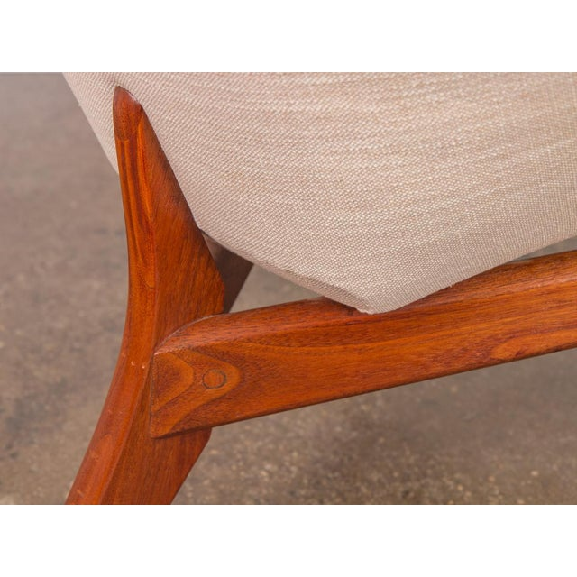 Linen Rare Adrian Pearsall Coconut Chair For Sale - Image 7 of 10