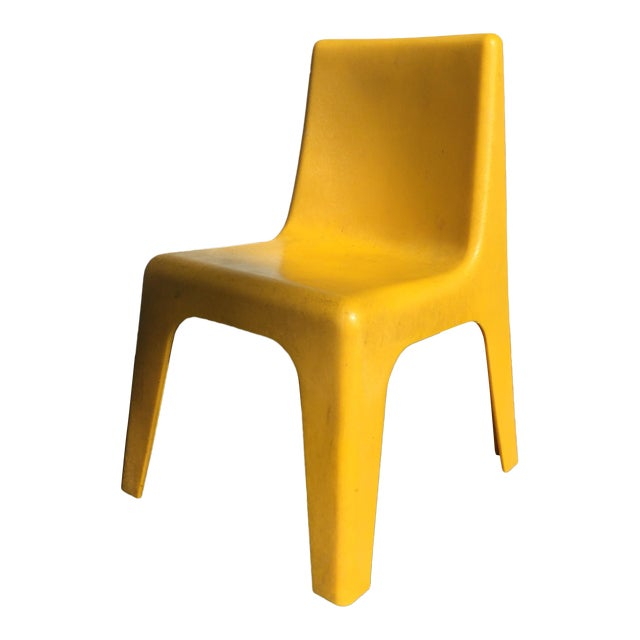 Modern Yellow Child's Chair - Image 1 of 8