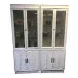 Image of Omega Faux Bamboo China Cabinet For Sale