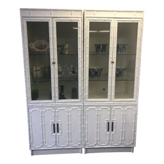 Omega Faux Bamboo China Cabinet For Sale