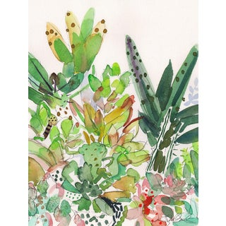 """Succulents First"" Original Watercolor Painting"