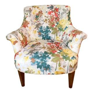 Modern Arhaus Floral Chair For Sale
