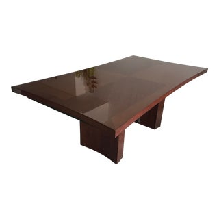 Contemporary Solid Rosewood Expandable Dining Table For Sale