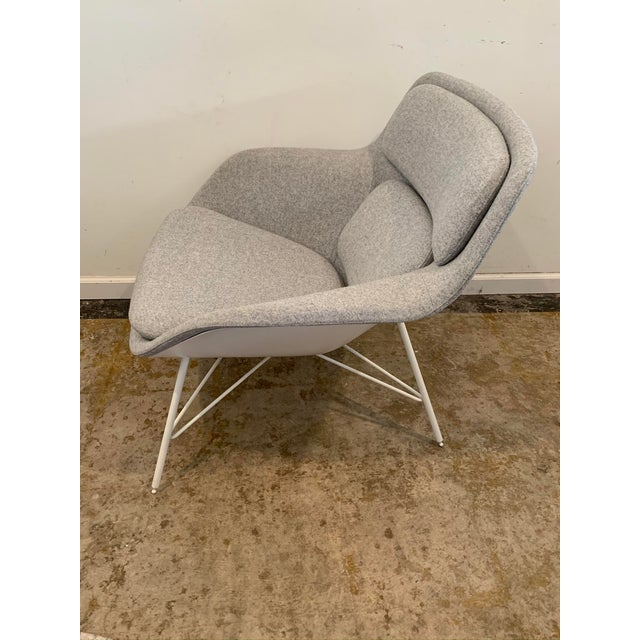 Gray Gray Flannel Mid-Century Womb Chair For Sale - Image 8 of 9