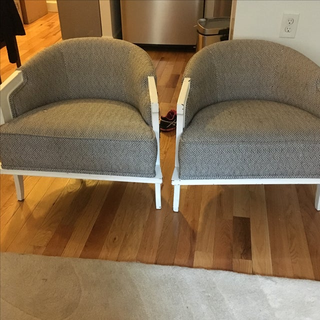 1950's Herringbone Chairs - A Pair - Image 4 of 7