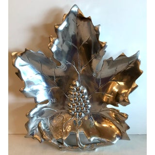 Vintage Silver and Grape Wilton Style Leaf Dish Preview