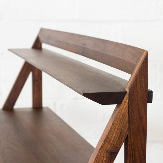 Early 21st Century Cantilever Series Natural Black Walnut Desk by Phaedo For Sale - Image 5 of 6