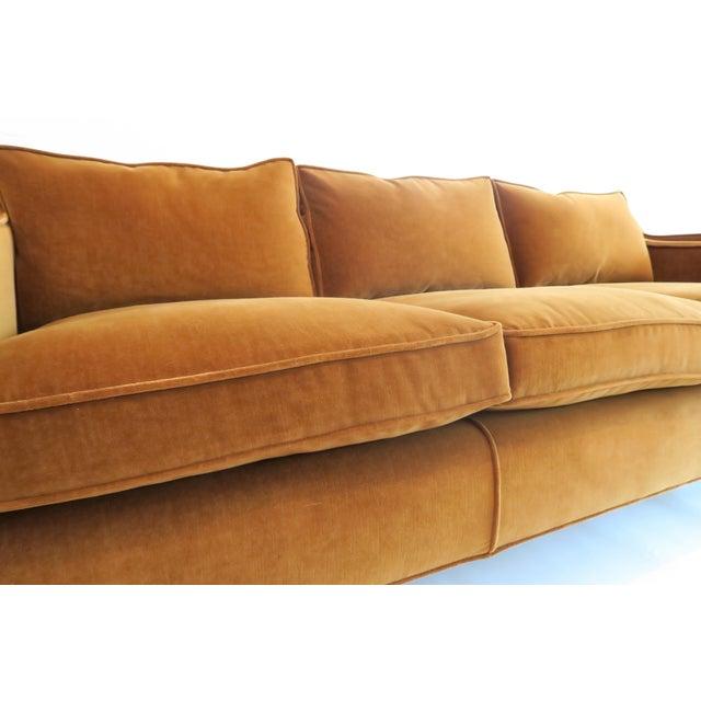 Textile Custom Modern Thin Arm Sofa For Sale - Image 7 of 8