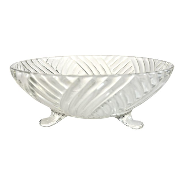 Footed Swirl Bowl For Sale