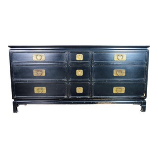 Chinoiserie Black Lacquered Dresser For Sale