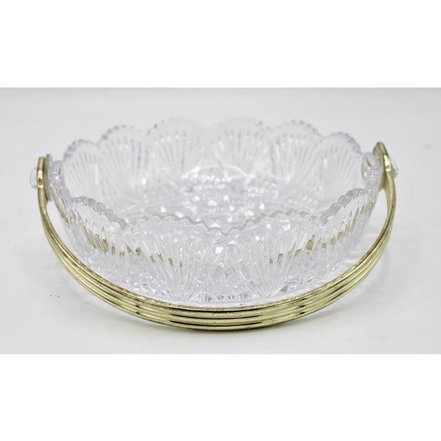 Mid 20th Century Vintage French Crystal Dish For Sale - Image 5 of 9