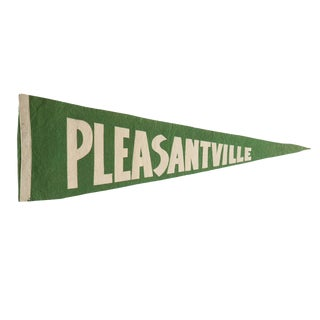 Vintage Pleasantville Felt Flag Pennant For Sale
