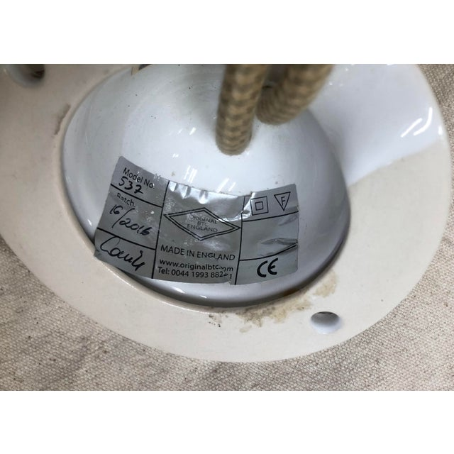 2010s Original Btc Cosmo Plain Rise and Fall Pendant in Natural White For Sale - Image 5 of 6