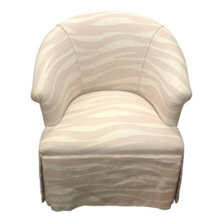 Custom Club Chair & 2 Sham Pillow Covers With Nina Campbell Fabric For Sale