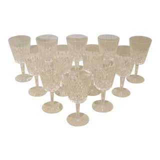 1950s Waterford Lismore Water Goblets - Set of 12 For Sale