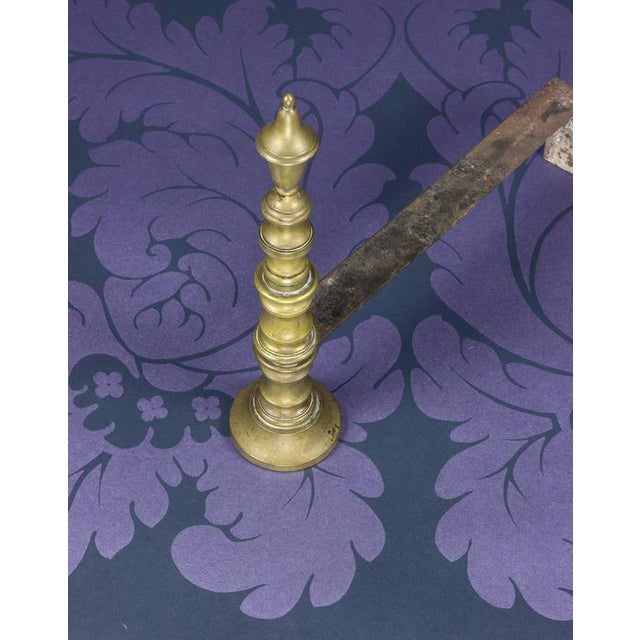 Early 20th Century French Brass Andirons - Image 7 of 8