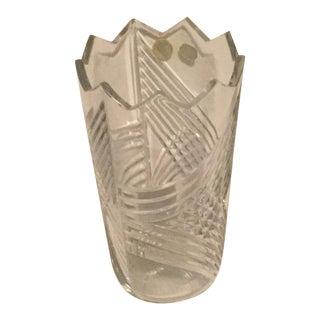 Czech Bohemian Crystal Vase For Sale