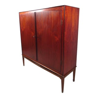 Mid-Century Modern Teak Armoire For Sale