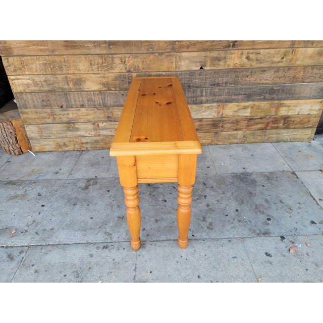 1980s 1980s Rustic Console Table with Drawers For Sale - Image 5 of 13