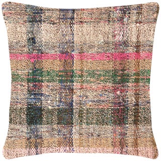 "Nalbandian - 1960s Turkish Hemp Pillow - 16"" X 16"" For Sale"