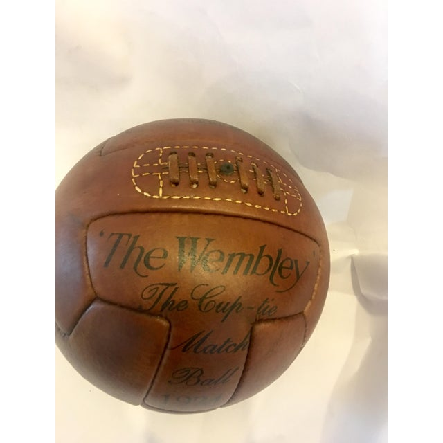 1924 Traditional Wembley Match Leather Soccer Ball - Image 2 of 5