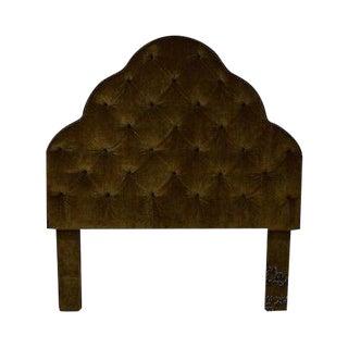 Robert Allen Tufted Upholstered Full Size Headboard For Sale