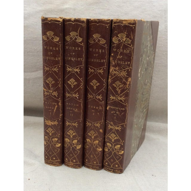 Kingsley Brown Leather Books - Set of 4 - Image 4 of 6
