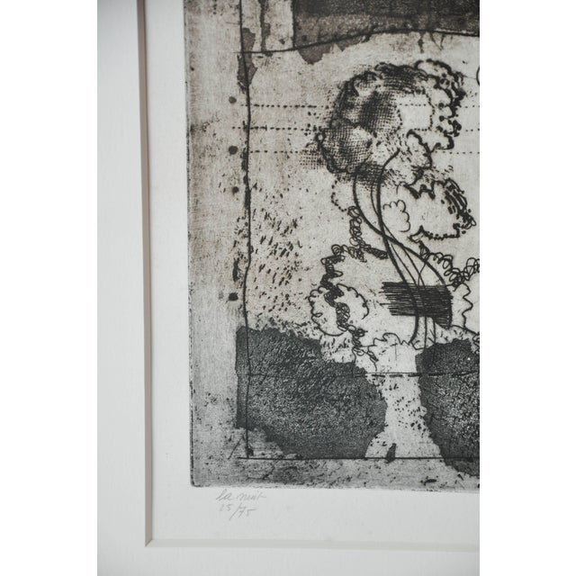 Mid 20th Century Mid-Century French Etching Untitled, Numbered and Signed For Sale - Image 5 of 9