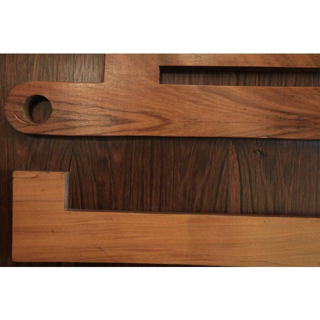 Wood 1960s Brazilian Jacaranda Decorative Panel or Door For Sale - Image 7 of 8
