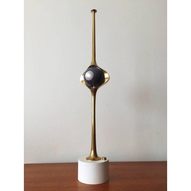 Italian Angelo Lelli Cobra Lamp for Arredoluce, in Brass, 1964 For Sale - Image 3 of 9