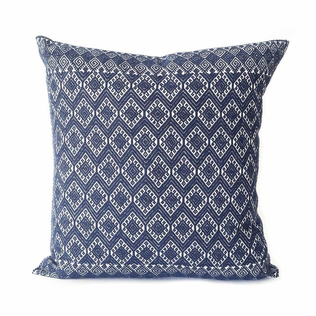 San Cristobal Brocade Pillow - Navy - Image 1 of 5