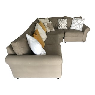 Pottery Barn 3 Piece Upholstered Sectional