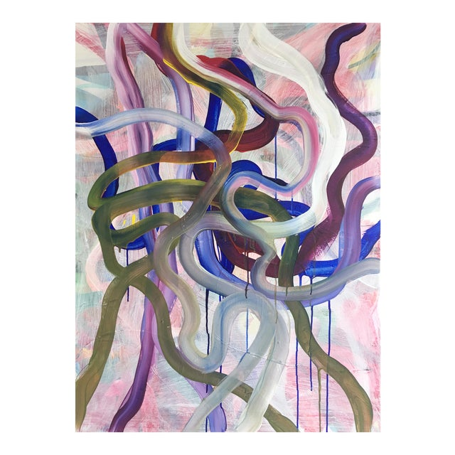 Large Original Abstract Painting by Jessalin Beutler For Sale